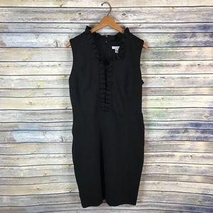 Charter Club Black Ruffle Dress
